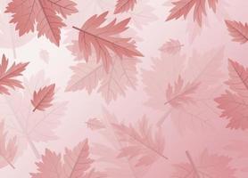 folhas de outono design de fundo com ilustração vetorial de espaço de cópia