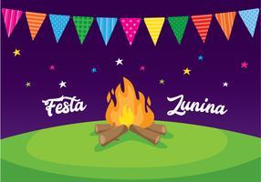 Cartaz da celebração de Festa Junina vetor