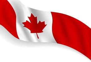 Dia do Canadá desenho de fundo de bandeira de bandeira com ilustração vetorial de espaço vetor