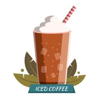 Café gelado vetor