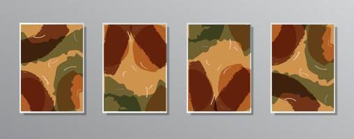 conjunto de ilustrações minimalistas e criativas de cores neutras vintage