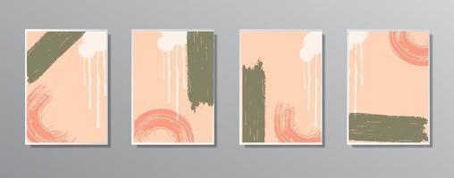 conjunto de ilustrações minimalistas e criativas de cores neutras vintage vetor