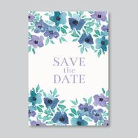 Cartão de casamento elegante da aguarela vetor