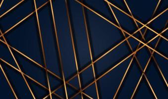corte de papel fundo dourado de luxo com textura de metal Resumo 3d, para cartão-presente, pôster no modelo de pôster de parede, página inicial, interface do usuário, ux, livro de capa, banner vetor