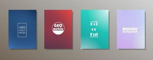 design de capas minimalistas coloridas. gradientes de padrão geométrico mínimo vetor
