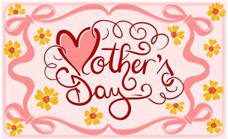 Vetores de ilustração do dia das mães