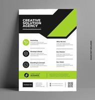 modelo de layout de design de folheto em tamanho A4. vetor