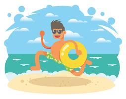 Ilustração de férias de praia vetor