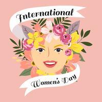 Vetor de ilustração de dia das mulheres