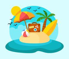 Fundo de férias de praia vetor