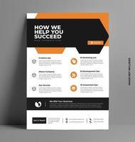 vetor modelo de layout de folheto de negócios em tamanho a4.