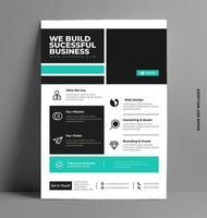 modelo de layout de folheto de negócios em tamanho a4. vetor