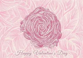 mão desenhada rosa linhas design para cartão de dia dos namorados, banner web, cartaz, etc.