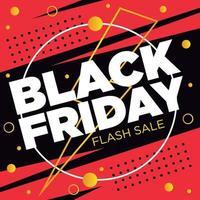 venda flash sexta-feira negra vetor