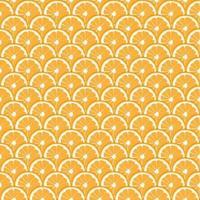 padrão sem emenda de fruta laranja vetor