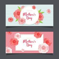 Feliz dia das mães banner vetor