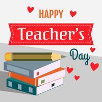 Dia da ilustração de saudação de dia do professor vetor