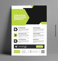modelo de layout de folheto de negócios brochura. vetor