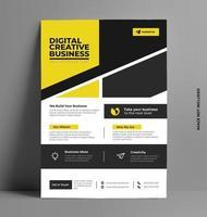folheto corporativo amarelo elegante em tamanho A4. vetor