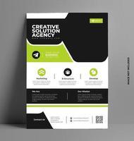 modelo de layout de design de panfleto comercial em tamanho a4. vetor