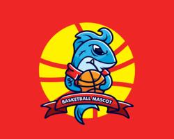Vetor de mascote de basquete