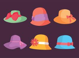 Vetor de chapéus coloridos de Kentucky Derby