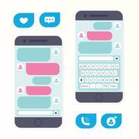 Aplicativo de mensagens de smartphone vetor