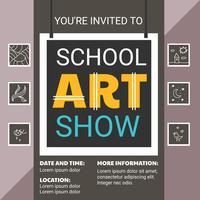 Modelo de Folheto - show de arte escolar