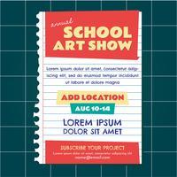 Convite da mostra de arte da escola