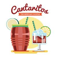 Cocktail Mexicano Cantaritos vetor