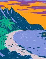 parque nacional da praia de samoa ofu americana território dos estados unidos arte do pôster wpa