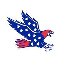 ícone de estrelas de águia americana vetor