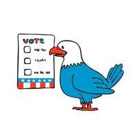 cédula de votação águia americana