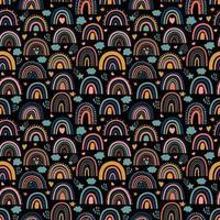 padrão sem emenda de arco-íris vetor