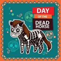 Dia da ilustração do cavalo morto vetor