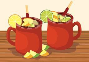 ilustração em vetor cocktail cantaritos