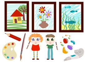Vetores de arte de escola