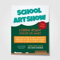 Folheto de Show de Arte Escolar vetor
