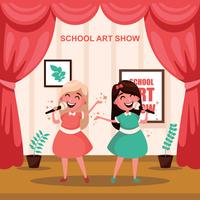 Ilustração de Show de arte de escola vetor