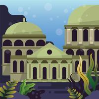 A, cidade, de, atlantis, ilustração vetor