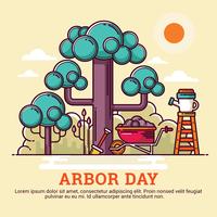 Ilustração do dia da árvore vetor