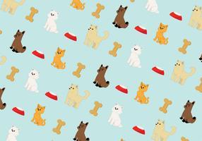 Filhotes de cachorro e gatinhos padrão vetor