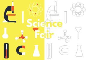 Design de vetor de ciência justo