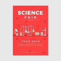 Vetor de cartaz de feira de ciência