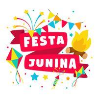 Saudações Festa Junina vetor