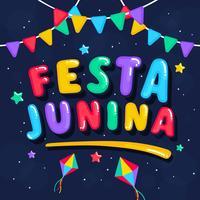 Festival Brasileiro Festa Junina vetor