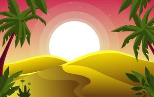 Vetorial, deserto, paisagem, ilustração vetor