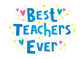 Melhores professores já tipografia vetor