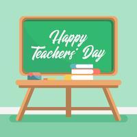 Ilustração feliz do dia dos professores vetor
