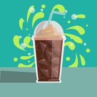 Vetor de ilustração de café gelado